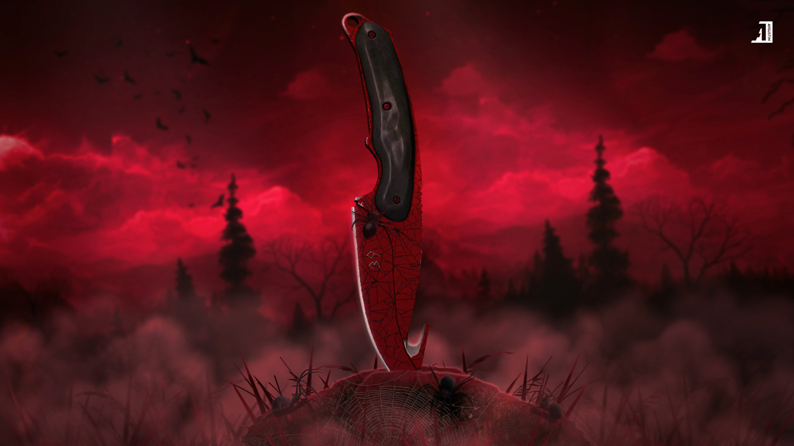 Gut Knife | Crimson Web