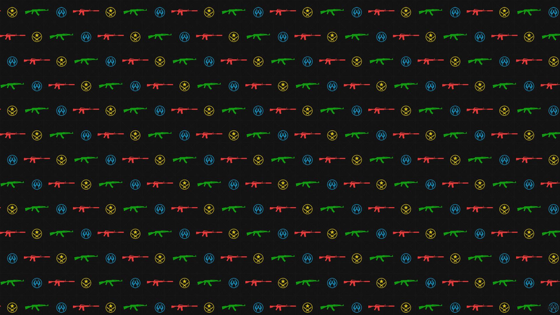 CSGO Ak-47 - M4a1 wallpaper pattern