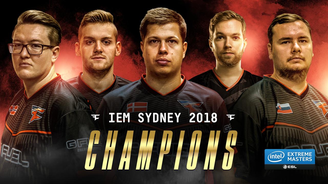 FaZe IEM Sydney 2018