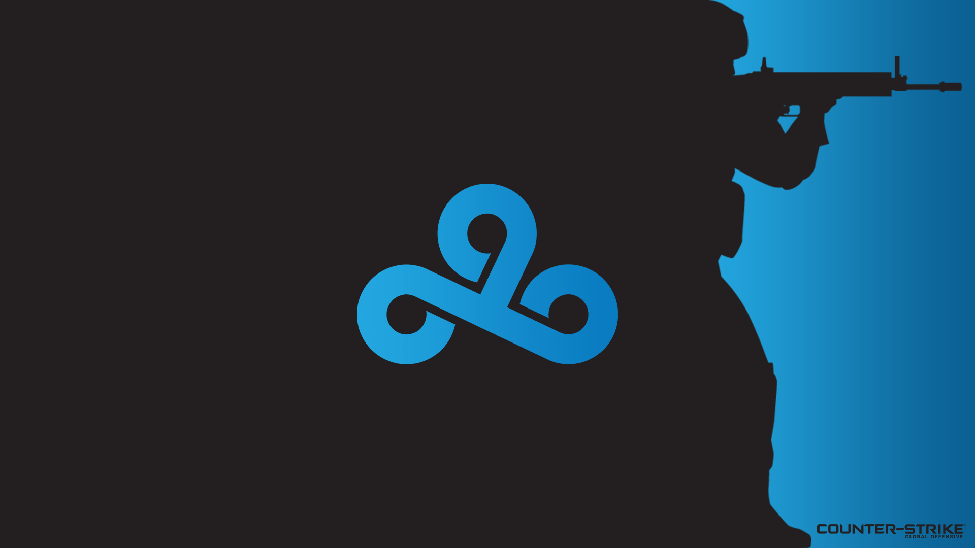 black with logo cloud 9 csgo wallpapers and backgrounds