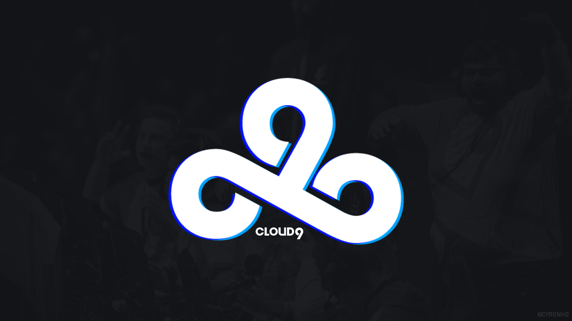 Cloud9 Double-Blue Wallpaper