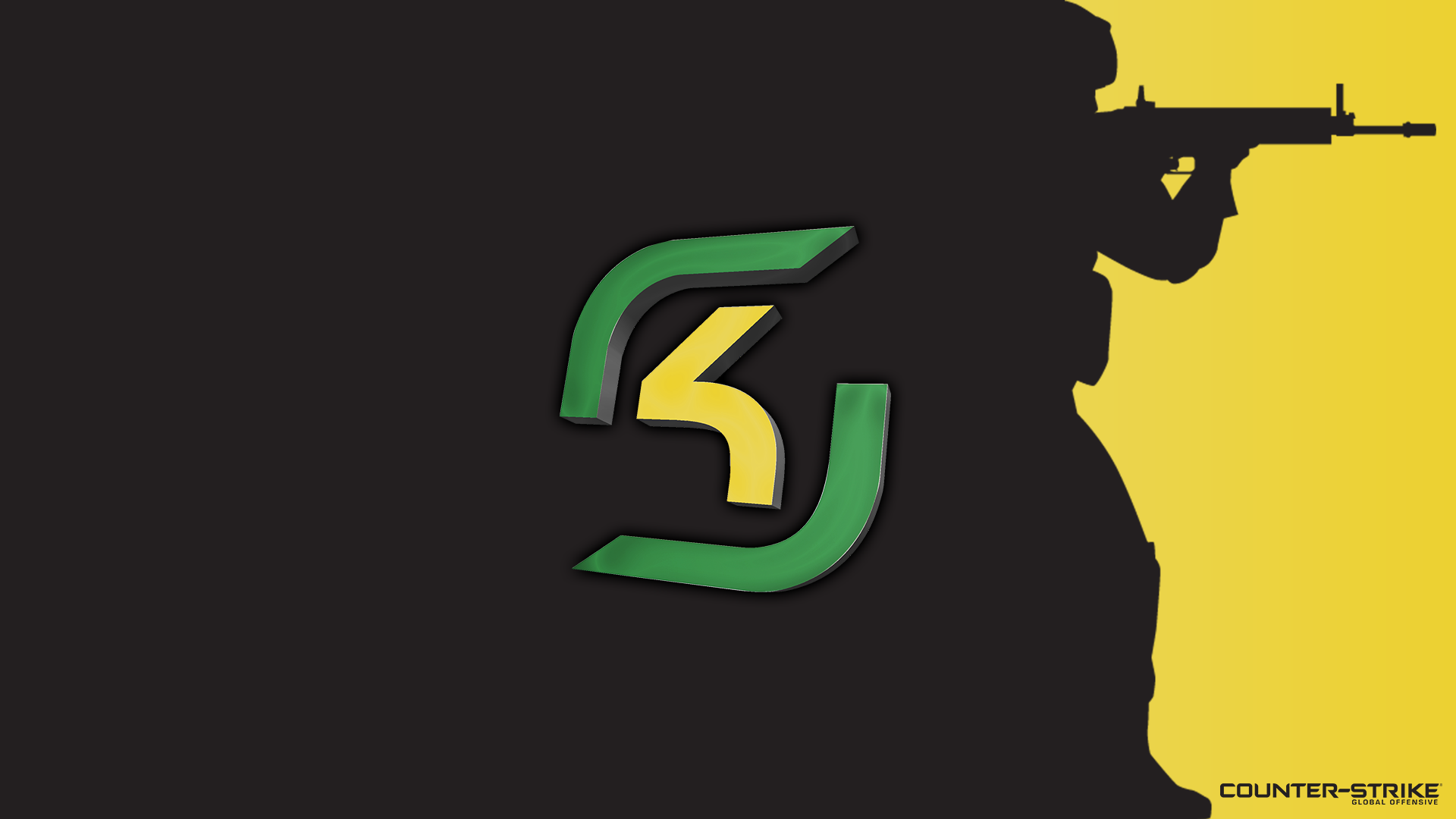 Black with logo - SK Gaming - Yellow