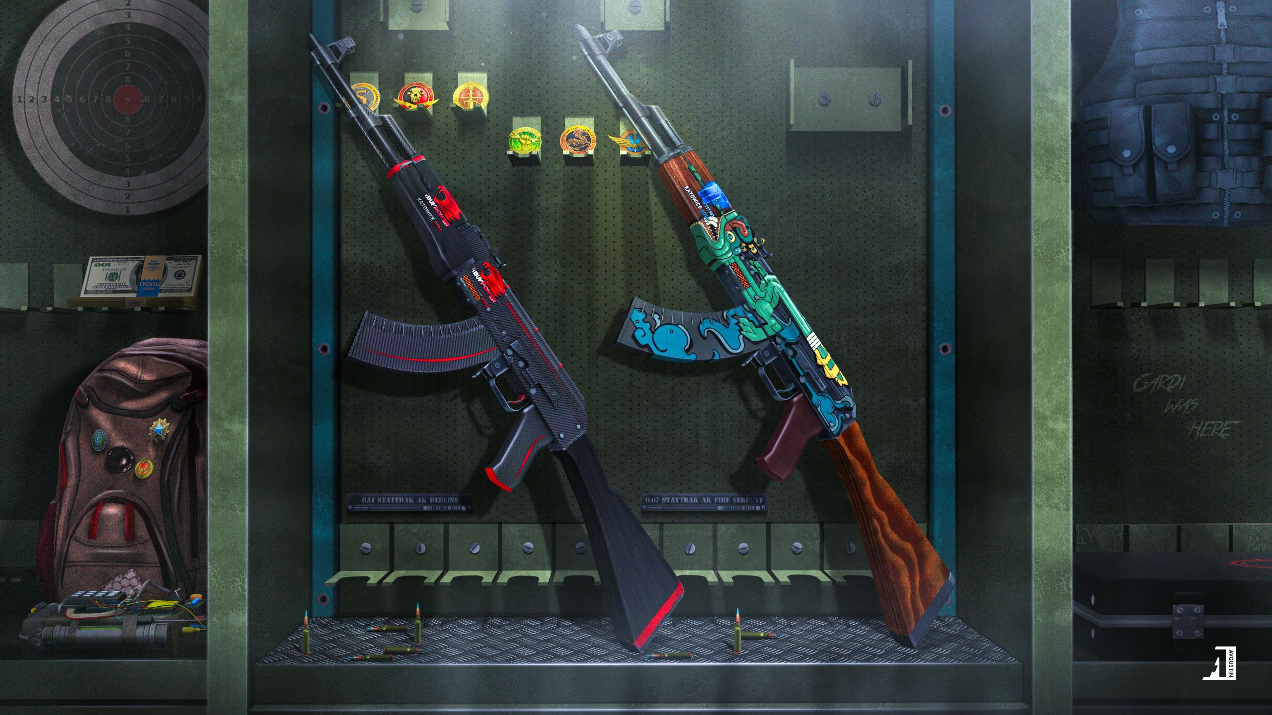 AK-47 - Redline & Ak-47 - Fire Serpent