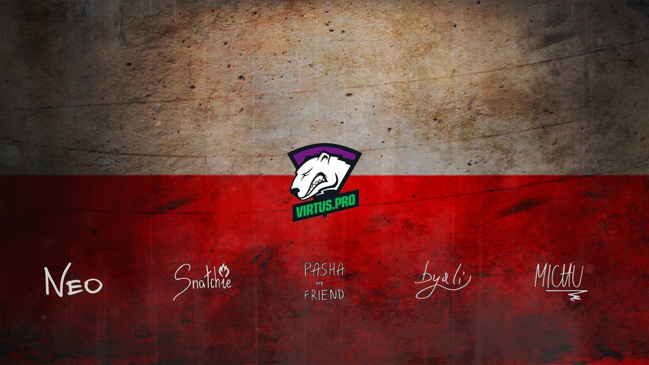 Virtus.Pro wallpaper with Autograpg by Ronofar