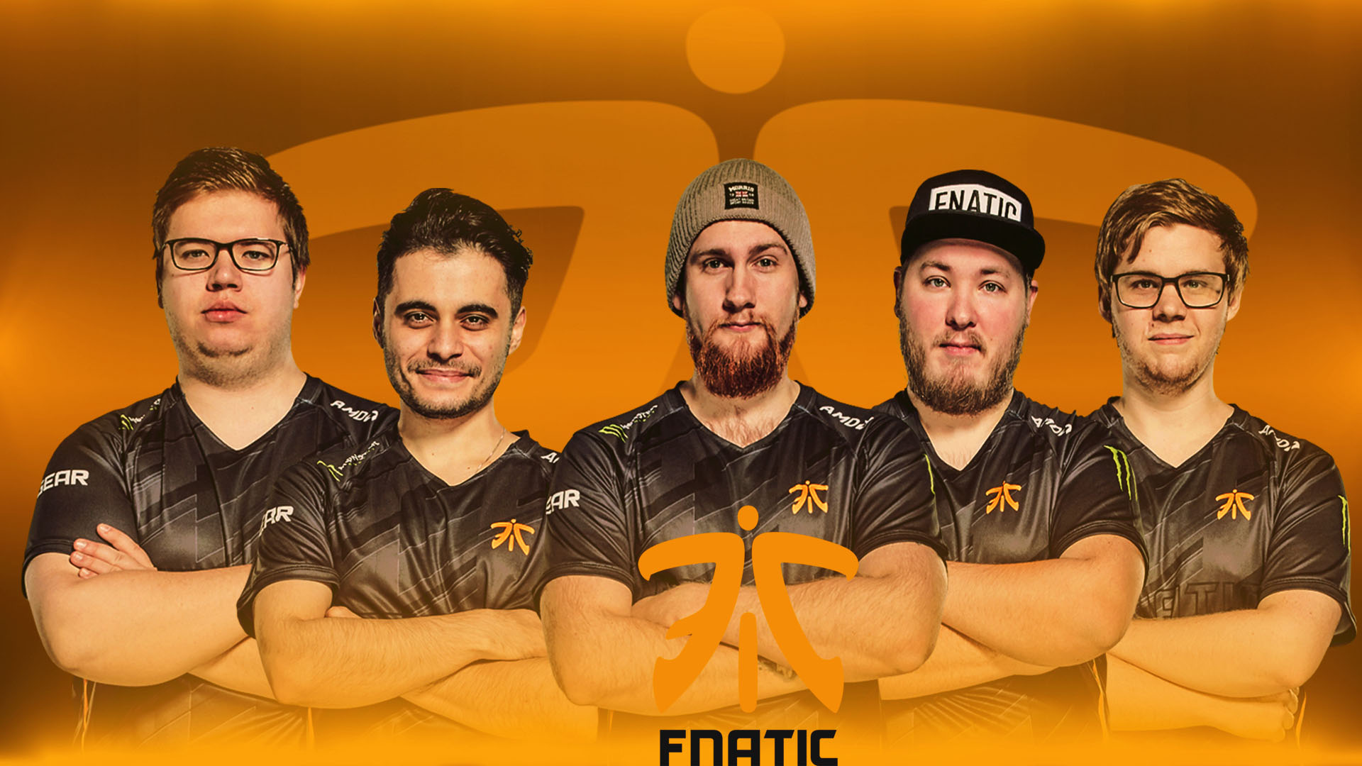Fnatic wallpaper with player by Ronofar