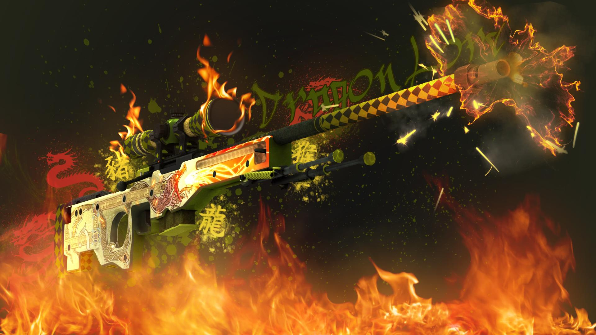 Awp Dragon Lore Created By Doud Csgo Wallpapers