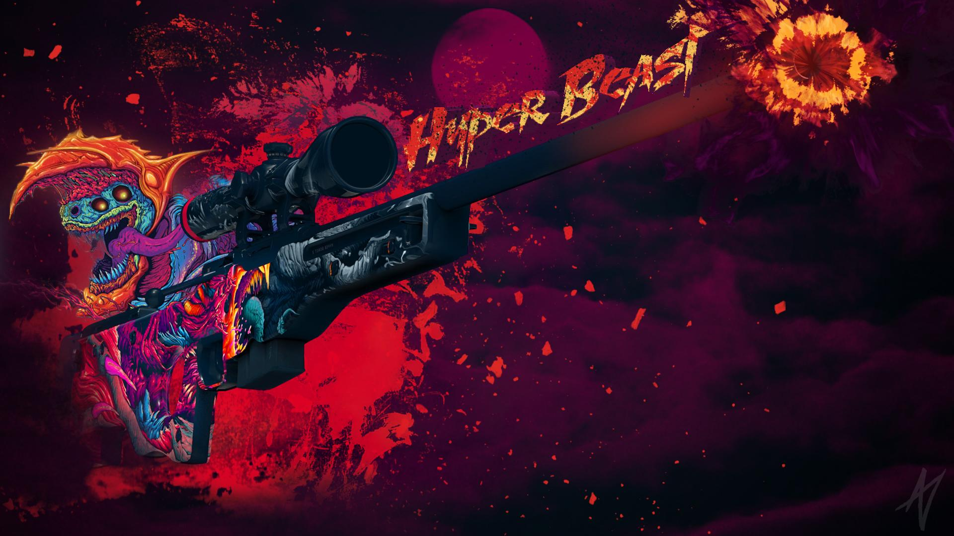 Awp Hyper Beast Created By Doud Csgo Wallpapers
