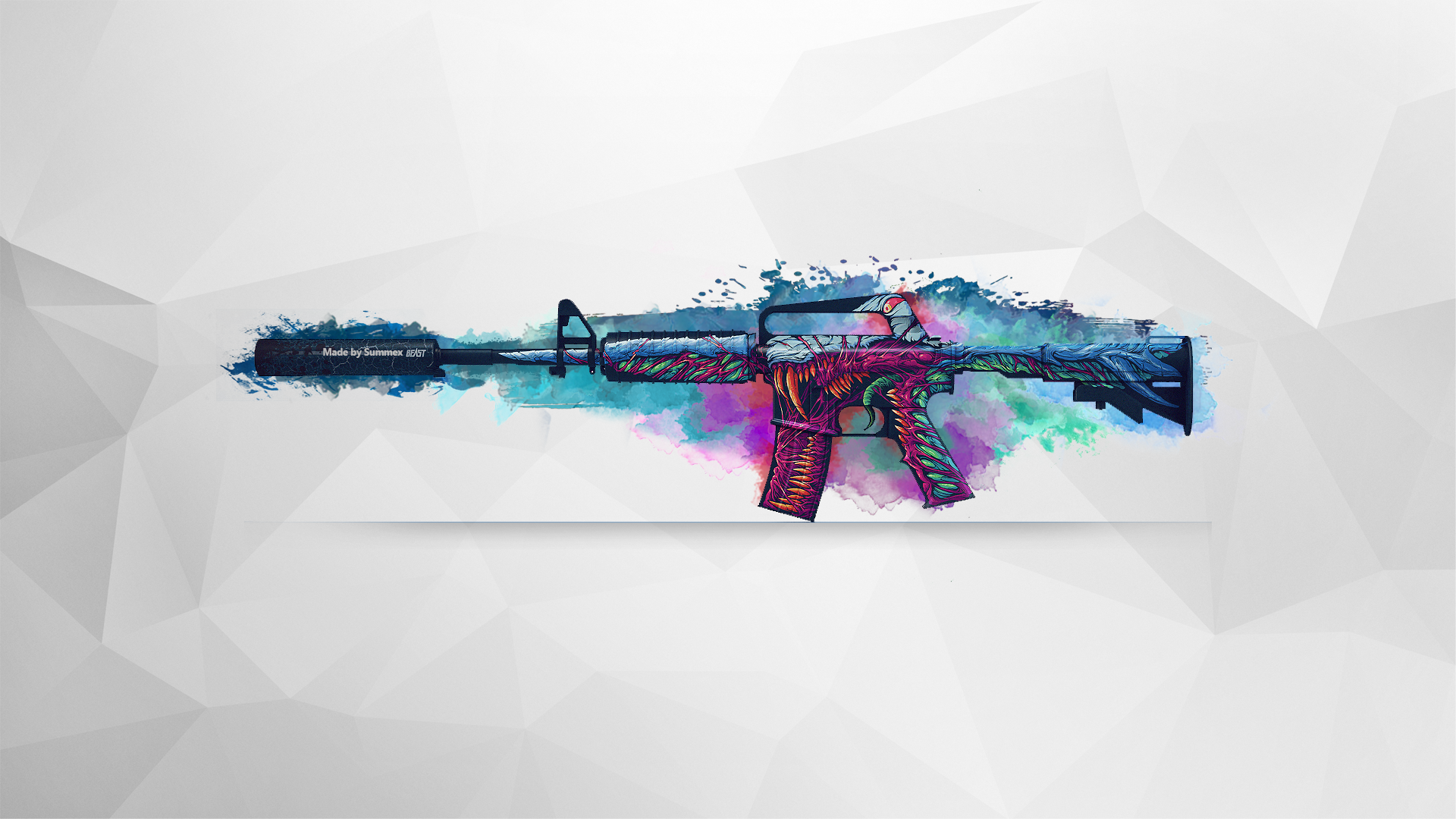 M4a1 S Hyper Beast Created By Summex Csgo Wallpapers