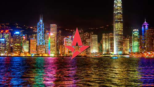 Astralis on City backdrop