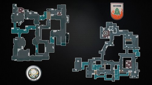 Dust II & Inferno map