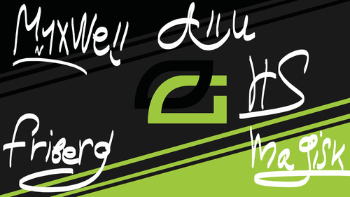 Optic Gaming player autograph By Ronofar