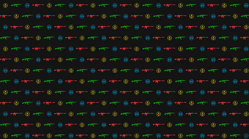 CSGO Ak-47 - M4a1 wallpaper pattern