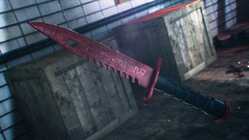 m9 bayonet crimson web 3D