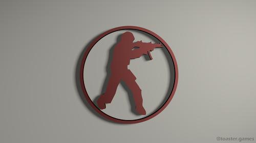 CSGO Logo red