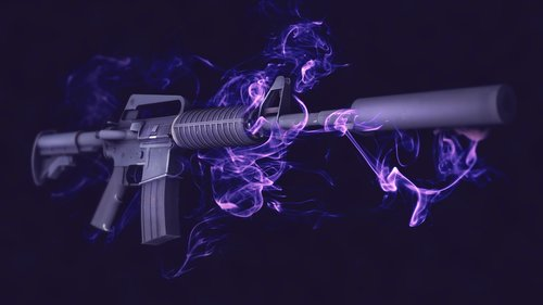 M4A1-S Purple Fire