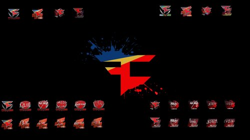 Faze Clan all stickers and autograph by Ronofar