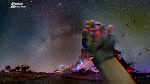 CS:GO Space Karambit - Wallpaper