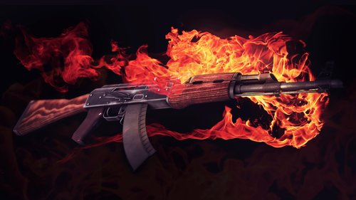 AK47 with Fire