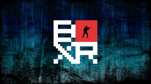 BOXR on blue grunge