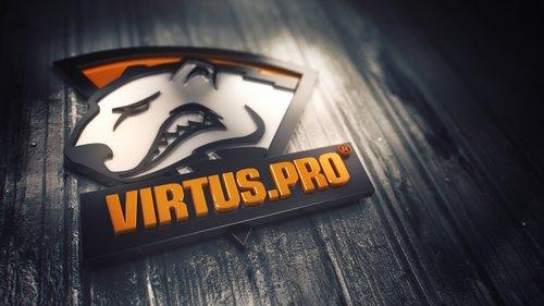 virtus pro logo 3D