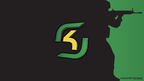 Black with logo - SK Gaming - Green