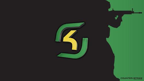 Black with logo - SK Gaming - Green