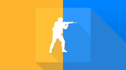 Simple orange and blue CS:GO