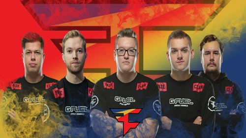 Faze Clan wallpaper wirh player by Ronofar