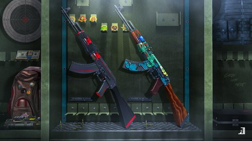 AK-47 - Redline & Ak-47 - Fire Serpent