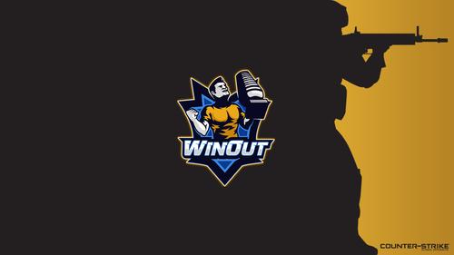 Black with logo - Winout - Orange
