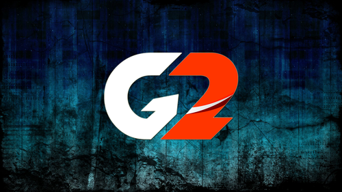 Old G2 logo on Blue Grunge